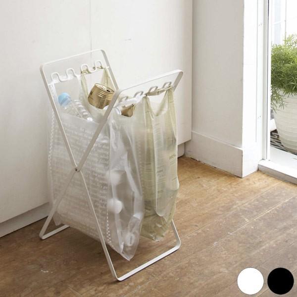 レジ袋スタンド タワー  ゴミ袋 スタンド ゴミ箱 折りたたみ|kajitano