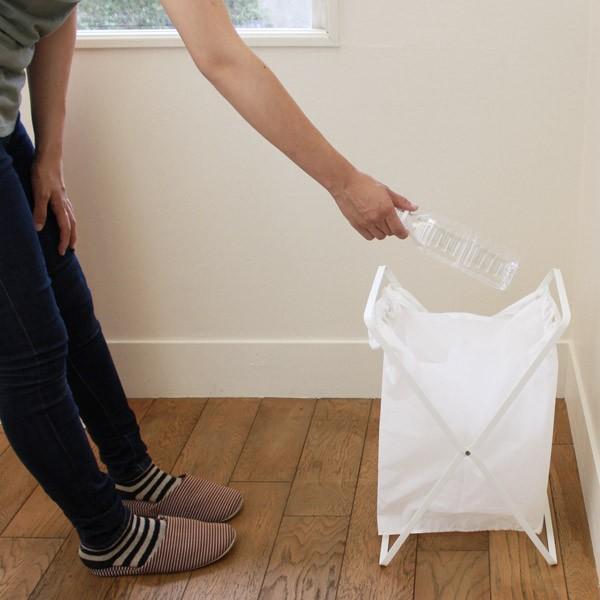 レジ袋スタンド タワー  ゴミ袋 スタンド ゴミ箱 折りたたみ|kajitano|05