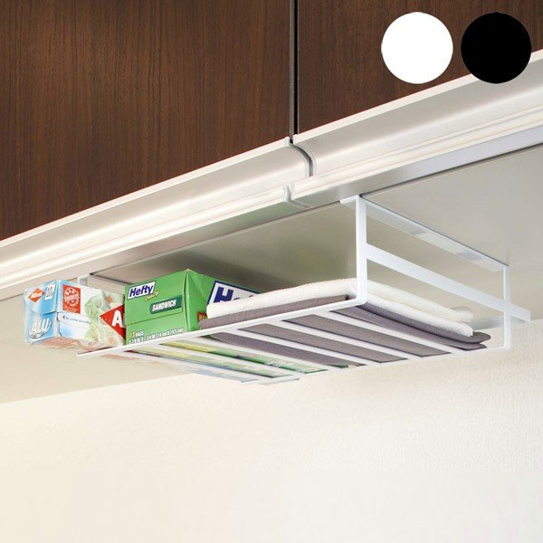 戸棚下 収納ラック タワーL  キッチンラック 吊り戸棚 下 収納 吊り戸棚ラック|kajitano