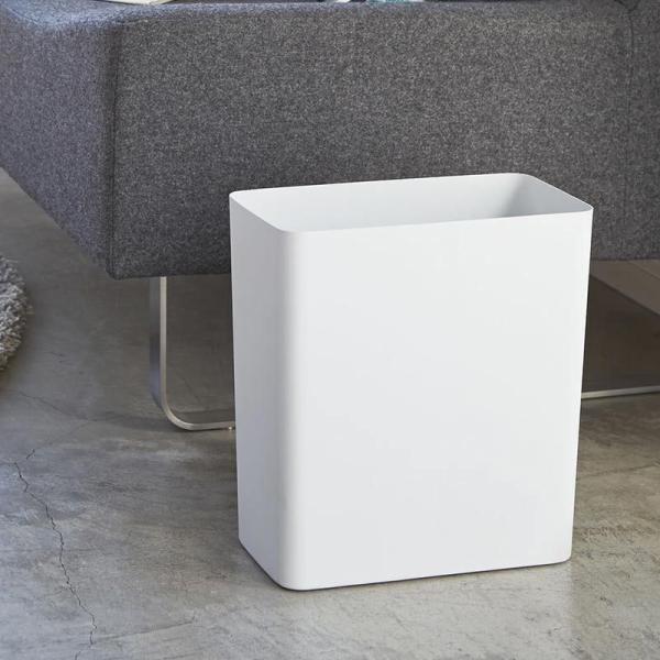 トラッシュカン タワー  リビング ゴミ箱 ラウンド、スクエア各2色 ゴミ箱 おしゃれ 角型 丸型 四角 ごみ箱 洗面所 白 ヤマザキ インテリア 縦型|kajitano