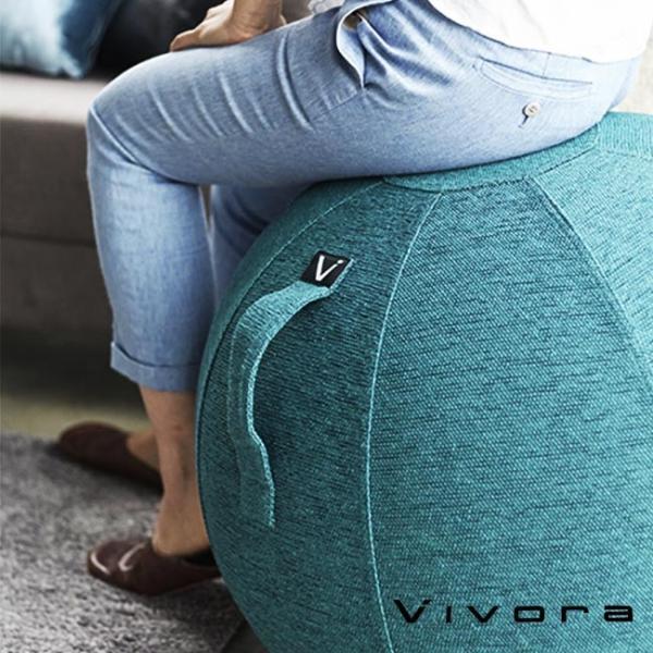 バランスボール チェア vivora ビボラ シーティングボール ルーノ シェニール バランスボール 体幹 トレーニング エクササイズ 姿勢 ヨガ 椅子|kajitano
