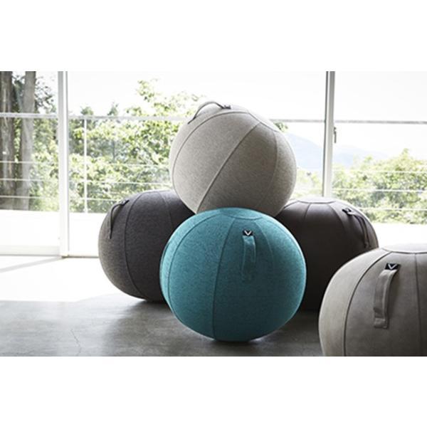 バランスボール チェア vivora ビボラ シーティングボール ルーノ シェニール バランスボール 体幹 トレーニング エクササイズ 姿勢 ヨガ 椅子|kajitano|07