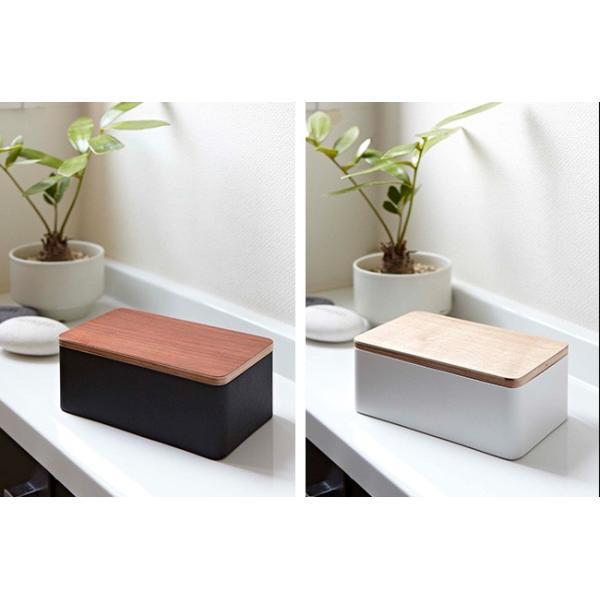 ウエットシートケース リン  ティッシュケース おしゃれ ティッシュボックス キッチンペーパー スタイリッシュ 木目 ブラウン ケース 木製 収納 キッチン kajitano 02