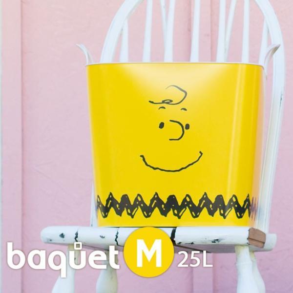 スタックストー ピーナッツ バケット M おもちゃ箱 収納 スヌーピー 洗濯かご おしゃれ ランドリーバスケット バケツ 英語 イラスト キャラクター|kajitano