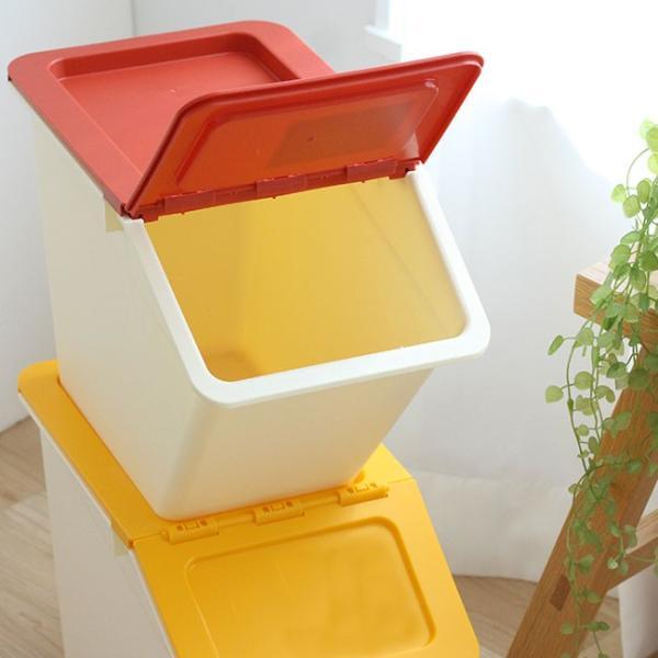 スタックストー ペリカン スリム 2個セット 全8色  収納ボックス フタ付き おしゃれ おもちゃ 収納 スタックストー|kajitano|04