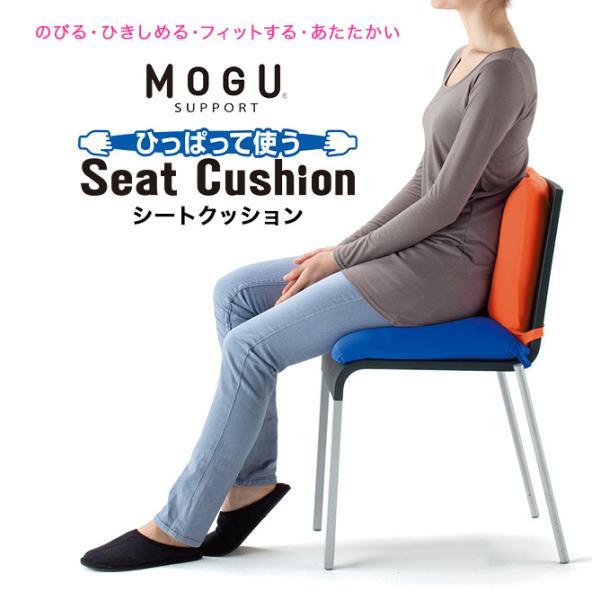 MOGU 腰痛 クッション 座ぶとん ビーズクッション 骨盤クッション 腰当て モグ シートクッション|kajitano|02