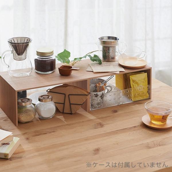 プラスラック 2個セット  収納 キッチン キャニスター収納 ケトル収納 ランドリー ナチュラル 北欧テイスト PLUSRACK シンプル おしゃれ 日本製|kajitano|03