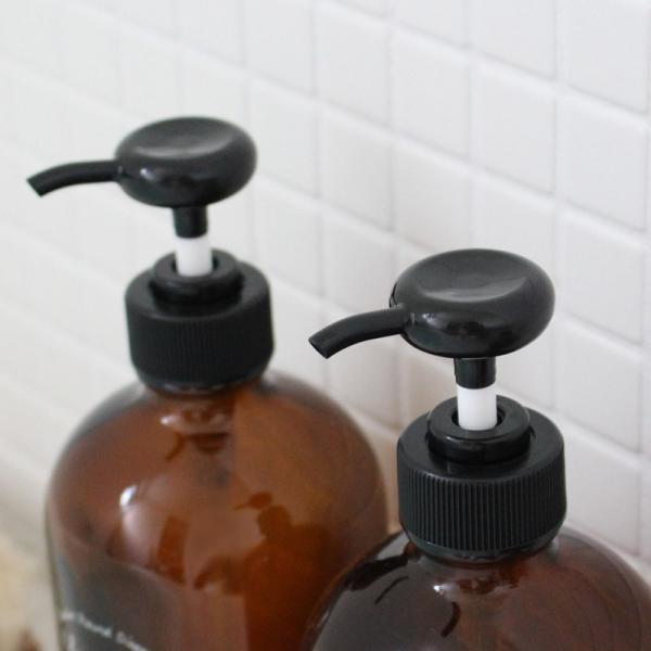 ボストンラウンド ディスペンサー シャンプー ボトル ソープディスペンサー ガラス 陶器|kajitano|03