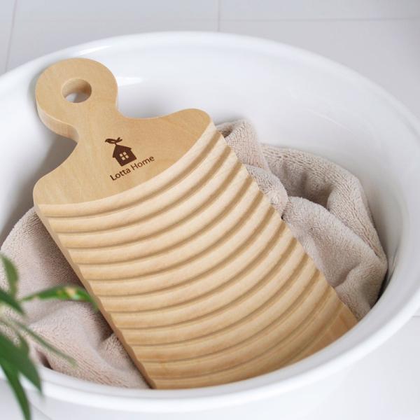 ロッタホーム ミニ洗濯板  ウォッシュボード 天然木 さくら 土佐龍 洗濯板 kajitano 02