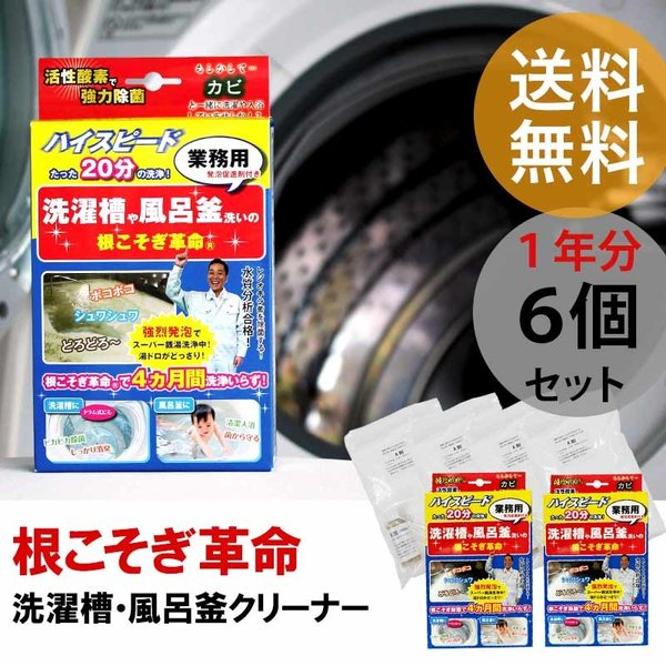 根こそぎ革命 6個セット 洗濯槽 クリーナー カビ取り 宮崎化学 風呂釜 掃除 液体洗剤 洗濯機 ドラム式 全自動洗濯機 洗浄剤 ランドリー|kajitano