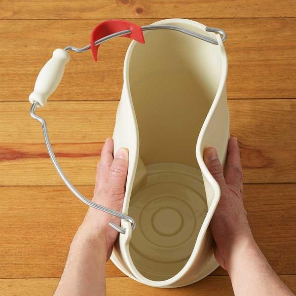 SCHALTEN バケット 8リットル ワイド  シャルテン バケツ おしゃれ 掃除用品 掃除道具 おそうじ 大掃除 シンプル|kajitano|02