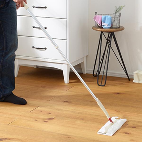 SCHALTEN  ロングフローリングワイパーセット  シャルテン フロアワイパー ワイパー本体 おしゃれ 掃除用品 掃除道具 床掃除 おそうじ 床 ホコリ|kajitano