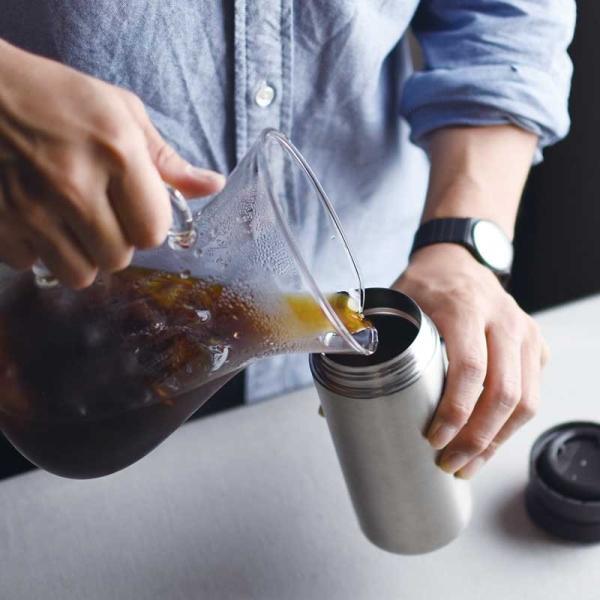 トラベルタンブラー 350ml KINTO タンブラー 蓋付き おしゃれ 保温 保冷 水筒 コーヒー お茶 水 直飲み キントー 持ち運び 旅行|kajitano|06