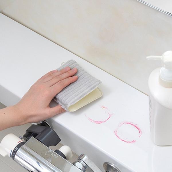 サンコー びっくりバスピカピカ バス用 スポンジ 掃除 ブラシ 浴槽 浴室 バスブラシ 大掃除 お風呂 kajitano 05