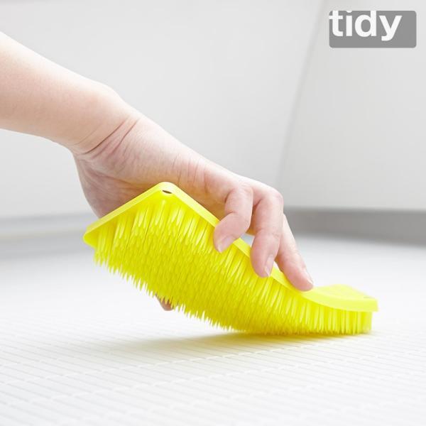 tidy プラタワ・フォーバス 全4色リニューアル バス床洗いブラシ ティディ 風呂床 浴室用ブラシ 風呂洗いブラシ タイル洗い 風呂掃除|kajitano|04