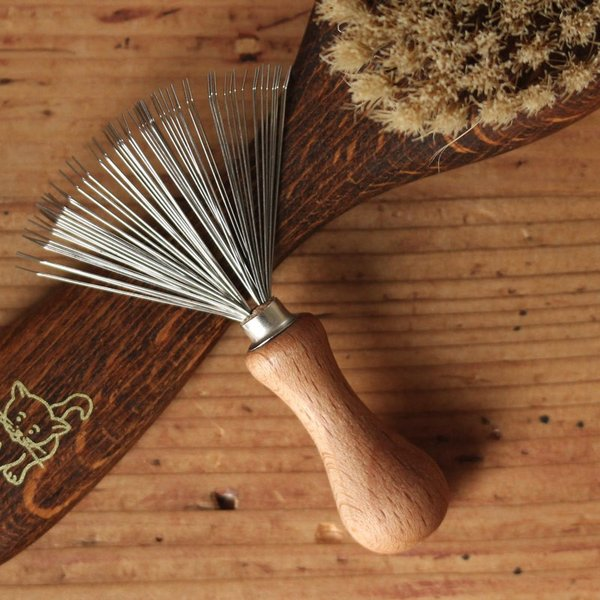 REDECKER ブラシの毛取り  レデッカー ブラシ ドイツ 掃除用具 ブラシクリーナー 髪の毛 ペットの毛 ホコリ ギフト ナチュラル 木製 インテリア おしゃれ|kajitano|04