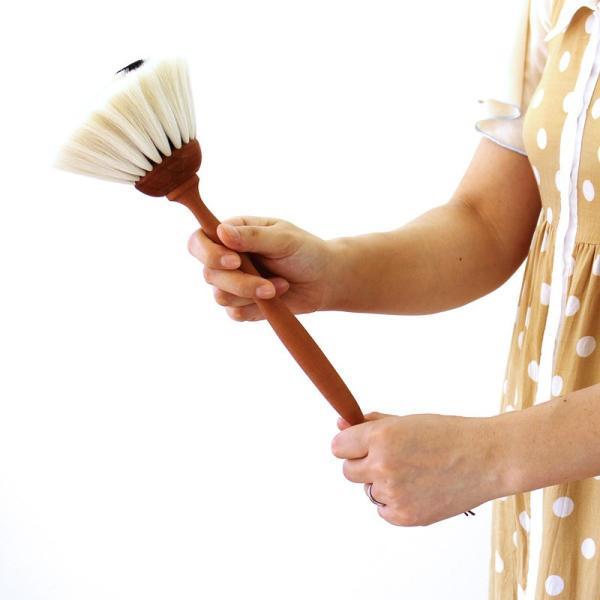 REDECKER ヤギ毛のはたき 白  レデッカー はたき レデッカー ブラシ 毛 ハタキ|kajitano|02