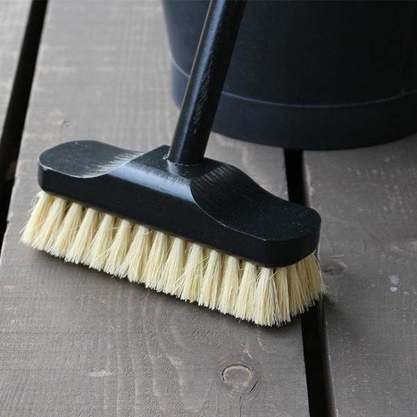 REDECKER デッキブラシ  レデッカー ほうき おしゃれ 玄関 バルコニー 大掃除 ブルー ブラック|kajitano|02