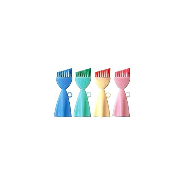マーナ お弁当箱洗いブラシ 全4色 MARNA キッチン ブラシ・たわし 柄付 パッキン 溝ブラシ ほこり取り|kajitano|02