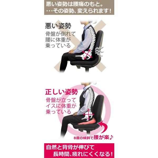 腰痛 クッション 骨盤クッション 腰痛対策 姿勢 骨盤矯正 マーナ 骨盤座ぶとん|kajitano|03