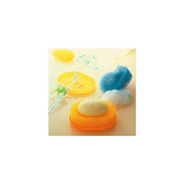 マーナ スポンジせっけん置き 皿つき 全4色 石鹸置き 石けん置き ソープディッシュ 石鹸ホルダー kajitano