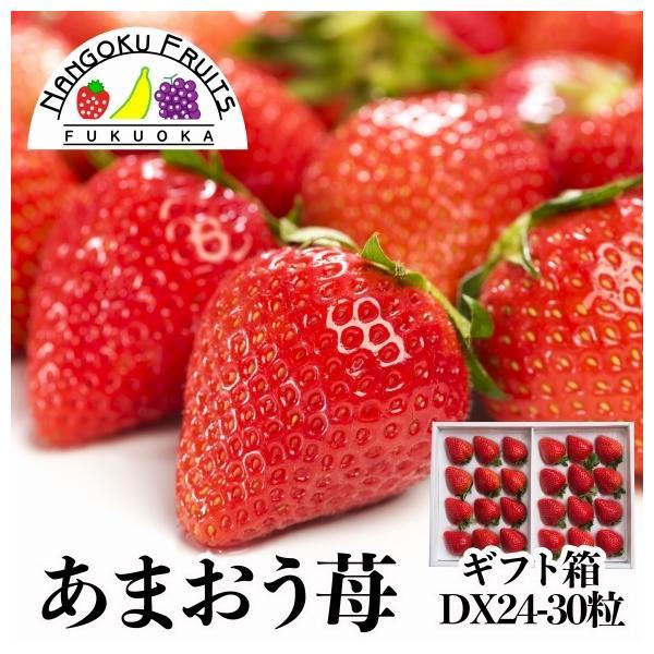 【予約販売】福岡産 あまおう苺 24-30粒 ギフト箱