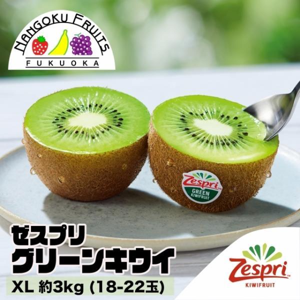 ニュージーランド産ゼスプリ・グリーンキウイ XL約3kg (18-22玉)