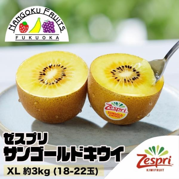 ニュージーランド産ゼスプリ・サンゴールドキウイ XL約3kg(18-22玉)