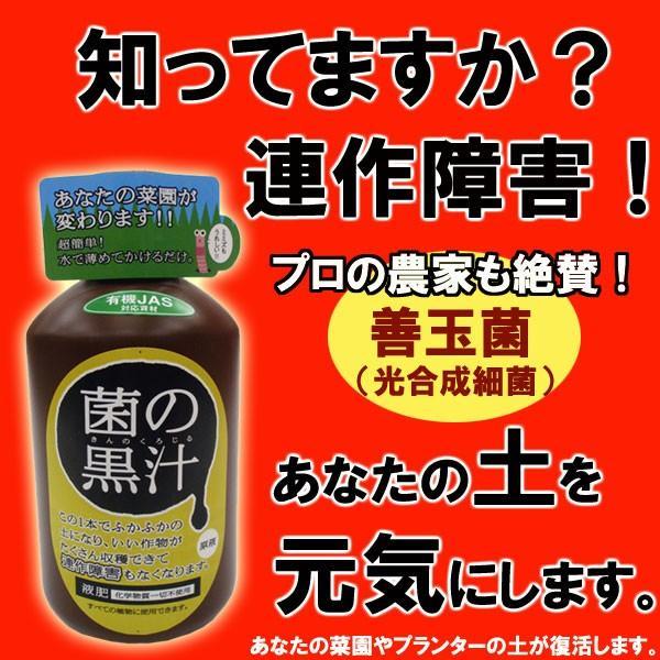 さらば連作障害!土を元気にする「菌の黒汁」【100ml】 kajoen