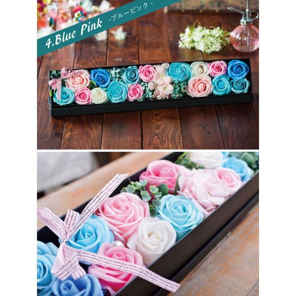 ソープフラワー ソープローズ「ロングBOX」ボックスフラワーのアレンジメント! フラワーギフトやお花のプレゼントにオススメソープフラワーのアレンジメント!|kajoen|03
