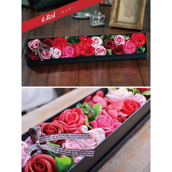 ソープフラワー ソープローズ「ロングBOX」ボックスフラワーのアレンジメント! フラワーギフトやお花のプレゼントにオススメソープフラワーのアレンジメント!|kajoen|05