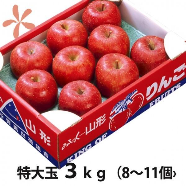 りんご ふじりんご フジリンゴ 送料無料 山形 大玉 ふじりんご 蜜入り 贈答用 5kg 18個入り 丸勘山形 リンゴ ふじ 果物