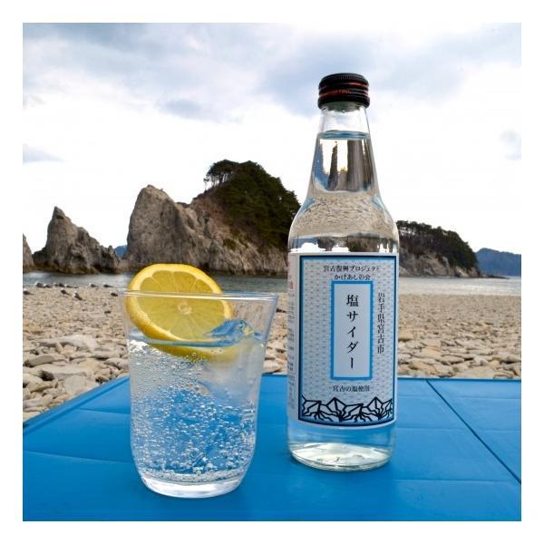 宮古の塩使用 塩サイダー 24本セット|kakeashinokai|02