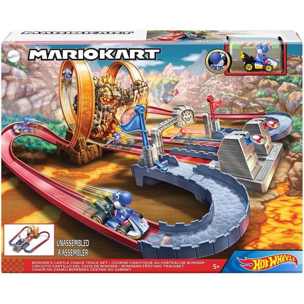 ホットウィール(Hot Wheels) マリオカート クッパ城からの脱出 セット専用:ブルーヨッシー1台付き5歳~ GNM22|kakenukete|05