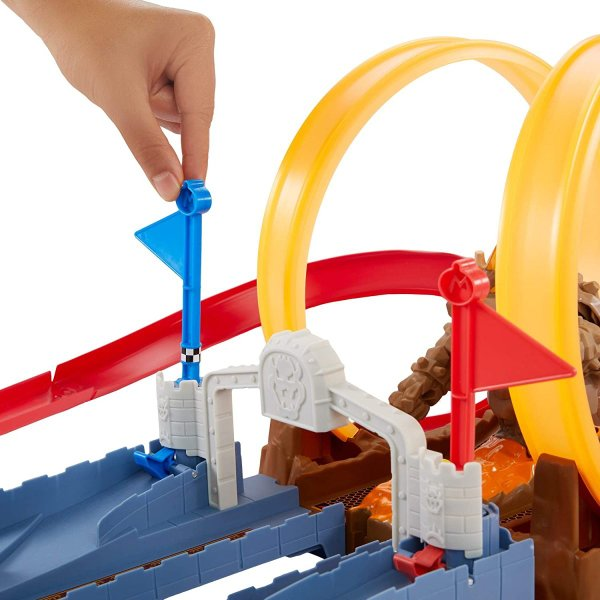 ホットウィール(Hot Wheels) マリオカート クッパ城からの脱出 セット専用:ブルーヨッシー1台付き5歳~ GNM22|kakenukete|09