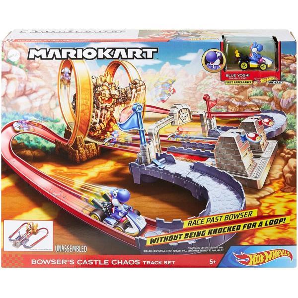 ホットウィール(Hot Wheels) マリオカート クッパ城からの脱出 セット専用:ブルーヨッシー1台付き5歳~ GNM22|kakenukete|10