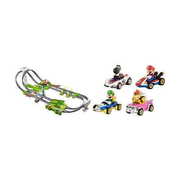 ホットウィールマリオカート サーキットトラックセット+マリオカート4パック kakenukete