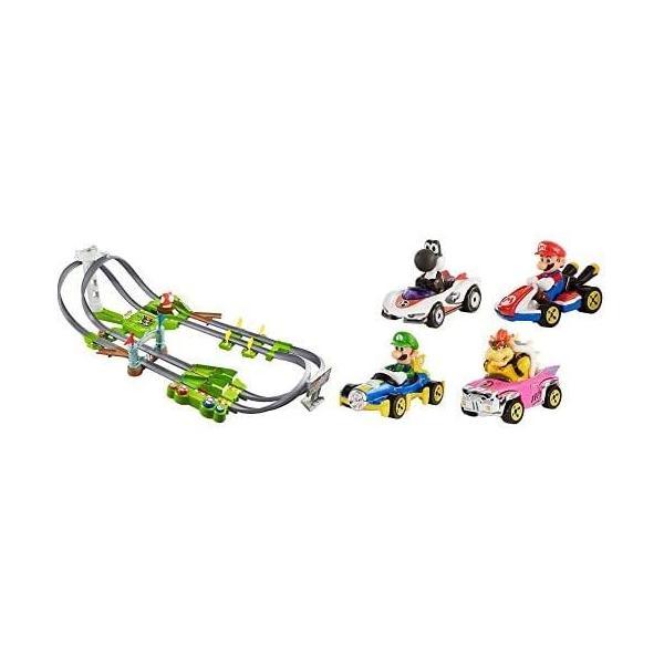 ホットウィールマリオカート サーキットトラックセット+マリオカート4パック kakenukete 02