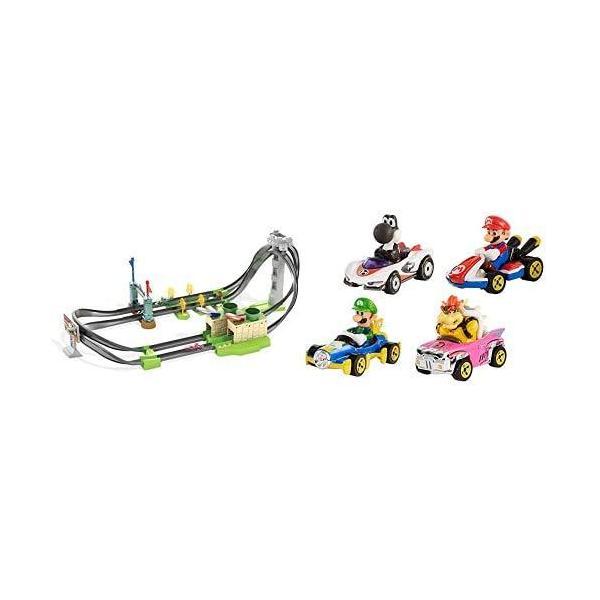 ホットウィールマリオカート サーキットライトトラックセット+マリオカート4パック|kakenukete