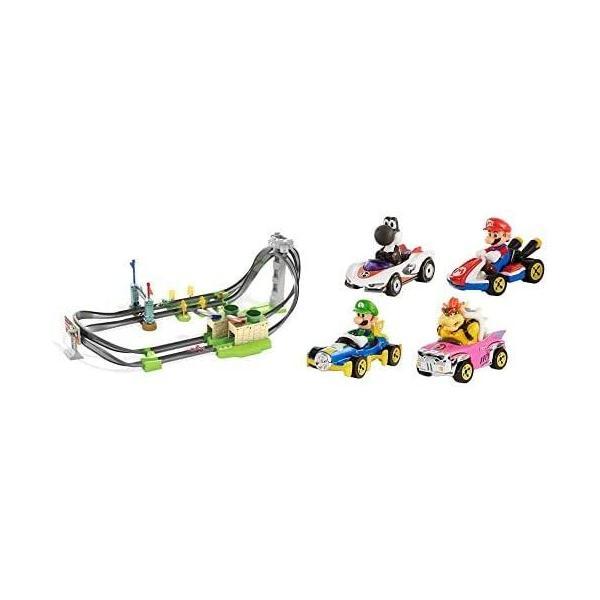 ホットウィールマリオカート サーキットライトトラックセット+マリオカート4パック|kakenukete|02