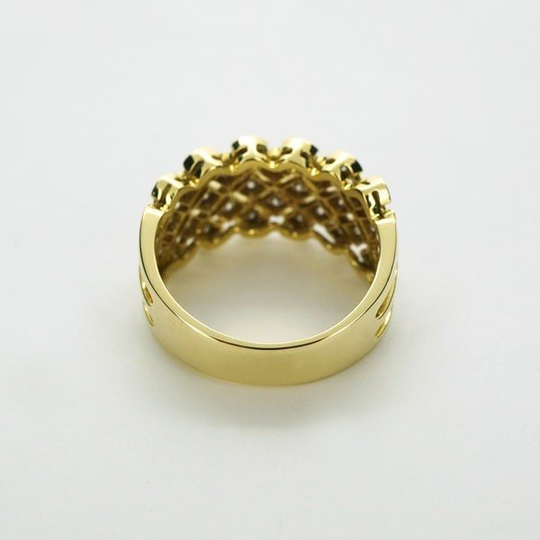 K18 イエローゴールド ダイヤモンド リング 日本製