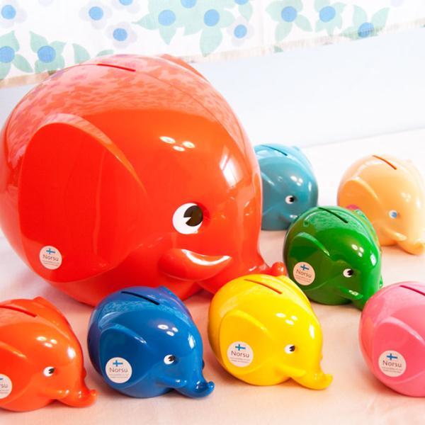 貯金箱 エレファントバンク Sサイズ ゾウ 象 500円玉 お札 北欧雑貨 おしゃれ|kakko