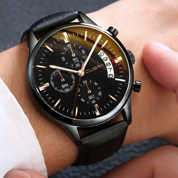腕時計アナログクォーツウォッチビジネスシンプル紳士メンズ高級腕時計風格ファッションステンレススチールカレンダーBsn-E-A
