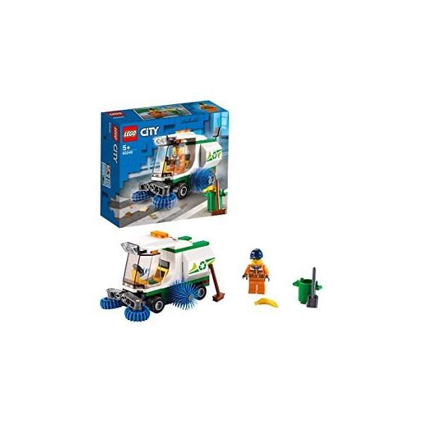 レゴ(LEGO)シティ道路清掃車60249レゴブロックレゴシティ車ミニフィグセット清掃車おもちゃ5歳