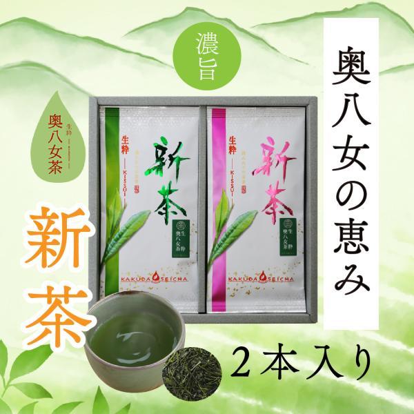角田製茶 奥八女新茶 2本詰合わせ|kakudaseicha