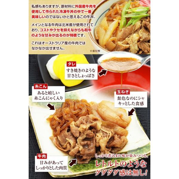 牛丼の具 冷凍 牛丼の素 日東ベストの牛丼DX 業務用 冷凍食品 185g入を5パック|kamasho|06