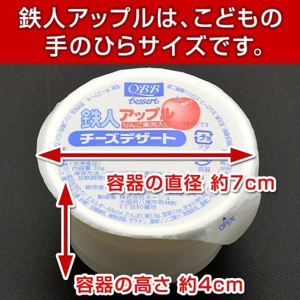 鉄人アップル チーズデザート りんご果肉入り QBB 5ヶ入を6パック 計30個|kamasho|02