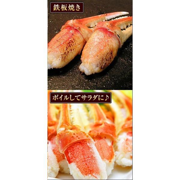 【2018年分完売しました】カニ 特大 ズワイガニ 爪 ポーション 生冷凍 ずわい蟹 しゃぶしゃぶ用 7Lサイズ ずわいがに爪 かにしゃぶ 内容量 1kg|kamasho|06