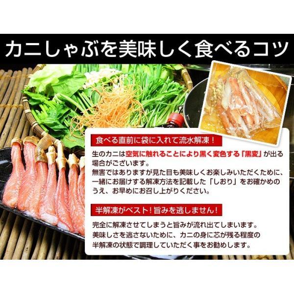 カニ 特大 ズワイガニ 爪 ポーション 生冷凍 ずわい蟹 しゃぶしゃぶ用 7Lサイズ ずわいがに爪 かにしゃぶ 内容量 1kg|kamasho|08