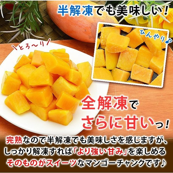 ポイント2倍 マンゴー 冷凍マンゴー 業務用 カット済み 完熟マンゴー 冷凍フルーツ 500gを10袋 計5kg|kamasho|05